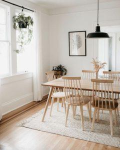 Comedores estilo minimalista nórdico