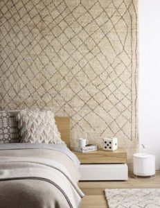 Ideas para decorar con alfombras pared