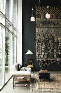 Ideas decorar con alfombras pared