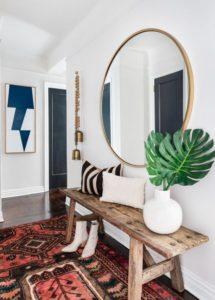 Ideas decorar alfombras recibidor