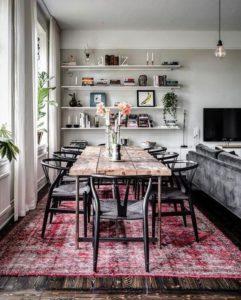 Ideas para decorar con alfombras salon