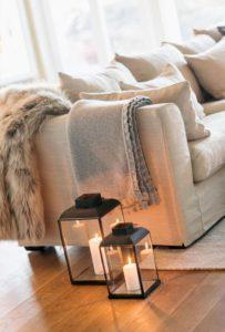 decorar tu hogar en invierno telas acogedoras