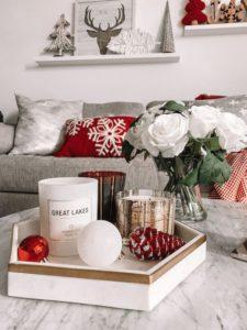 decorar en Navidad rojo
