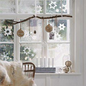Ideas para decorar en Navidad ventanas