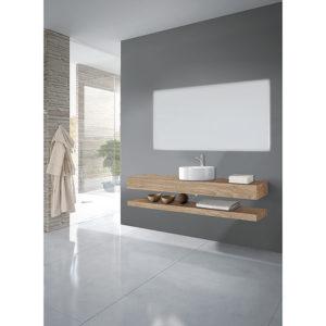 Doble Encimeras madera baños