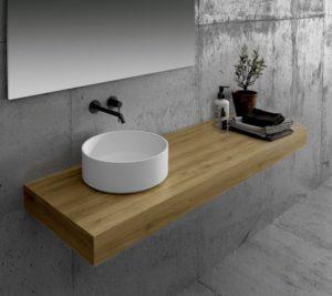 Encimeras madera baños