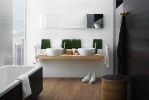 Encimeras de madera para baños