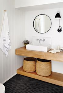 Doble Encimeras de madera para baños