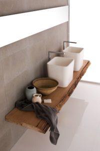 Encimeras de madera para baños aspecto natural