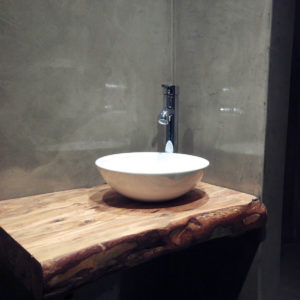 Encimeras madera baños aspecto natural