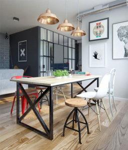 Mesas de comedor rústicas en diferentes estilos decorativos industrial