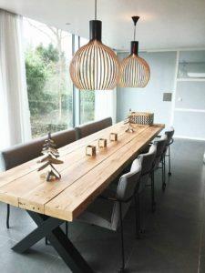 Mesas de comedor rústicas estilo minimalista