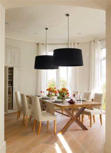 Mesas de comedor rústicas en diferentes estilos decorativos clásico