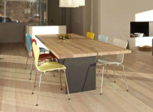 Mesas de comedor rústicas en diferentes estilos decorativos minimalista