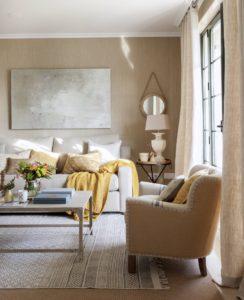 Blanco beige combinación acogedora salón
