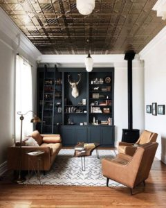 muebles oscuros centrar atención