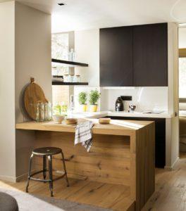 Ideas para aprovechar el espacio en la cocina taburetes