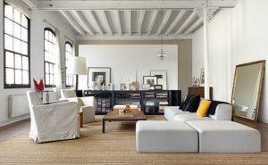 Consejos para decorar una vivienda tipo loft salón