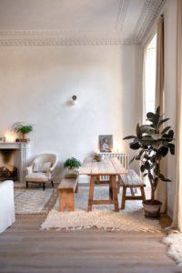 Espacios compartidos con estilo salón y comedor